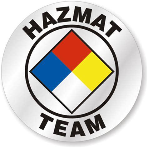 Haz Mat Team by Hat Stickers Hazmat Team Signs Sku Hh 0029