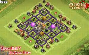 Of clans town hall 7 town hall 7 farming defense base with 3 air
