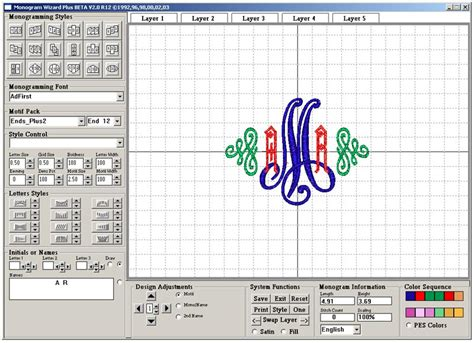 lettering design software monogram wizard plus lettering design software