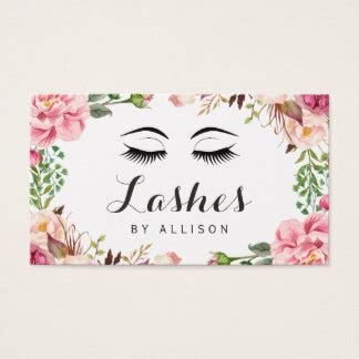 Eyelash Business Cards Templates Zazzle Eyelash Business Cards Templates