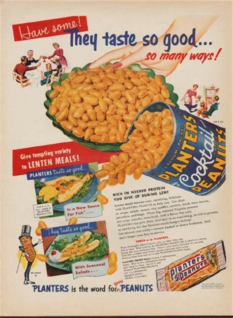 1953 planters peanuts vintage ad quot they taste so good quot