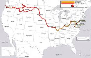 Lewis And Clark Route Map map of the lewis amp clark expedition