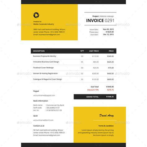 invoice template illustrator invoice template illustrator invoice sle template