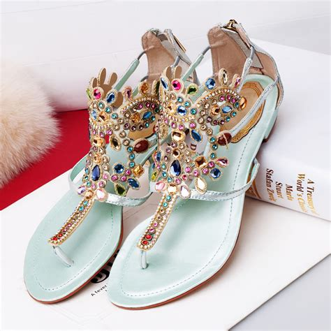 s sandals with bling s flat sandals bling bohemia rhinestone