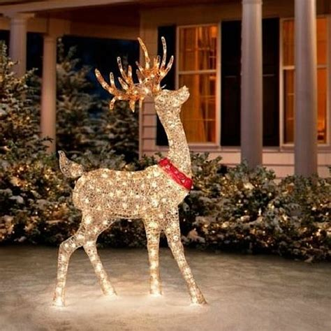led outdoor reindeer buy sale 60 quot outdoor lighted pre lit golden buck reindeer yard decor by opensky