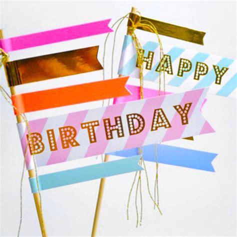 Dijamin Topper Cake Flag Box By Esslshop happy birthday cake flags by popbox notonthehighstreet