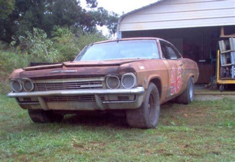 old nascar race car barn finds nascar in a barn 1965 chevrolet impala bring a trailer