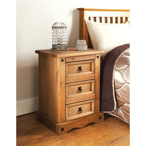 cheap side tables for bedroom rio 3 drawer bedside table table furniture cheap furniture
