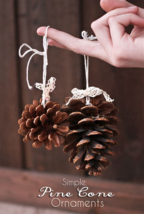 pine cone ornaments 21 handmade holiday crafts oh my creative