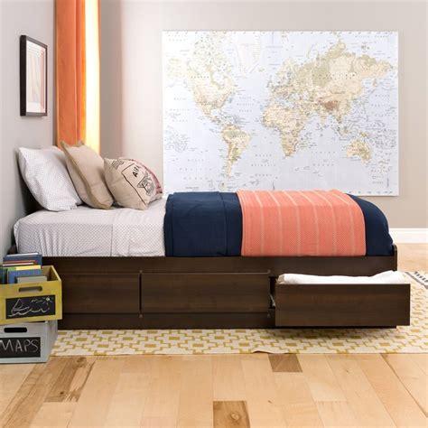 prepac platform bed shop prepac furniture espresso twin platform bed with storage at lowes com