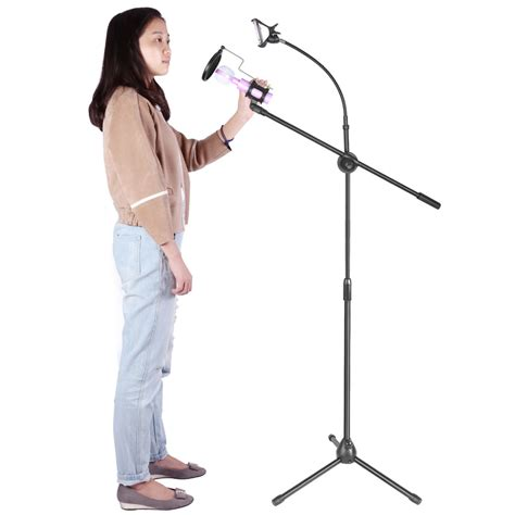 Microphone Hello 2 Mic With Stand Mainan Musik Anak microphone smartphone stand holder 360 degree black jakartanotebook