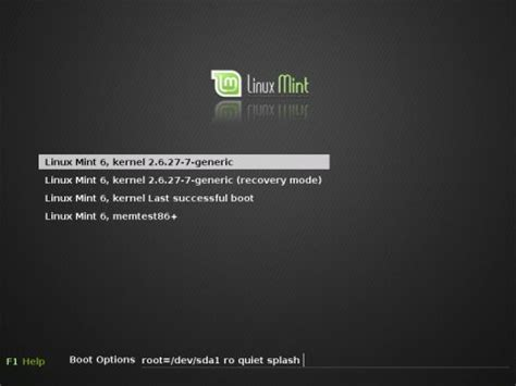 tutorial grub linux linux mint 6 0 felicia minty and sweet