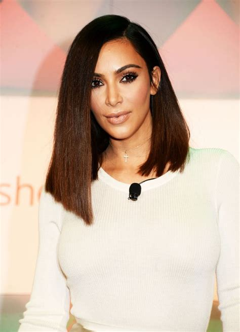 long bob hairstyles kim kardashian kim kardashian admits blunt bob haircut is a wig as she