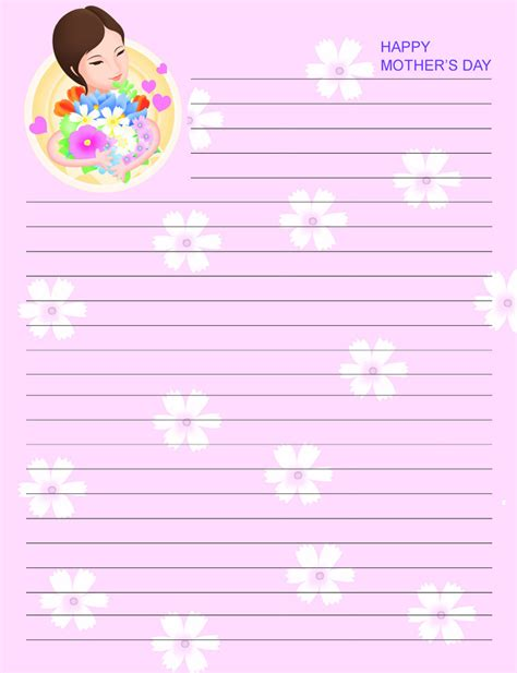 printable lined paper for mother s day 9 best images of mother s day free printable stationary