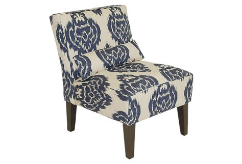 Navy And White Accent Chair Bergman Armless Chair Navy White From One
