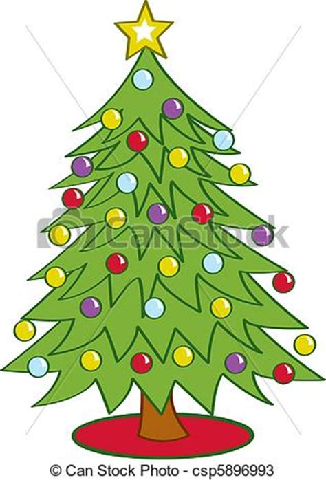 vectors of cartoon christmas tree cartoon christmas tree
