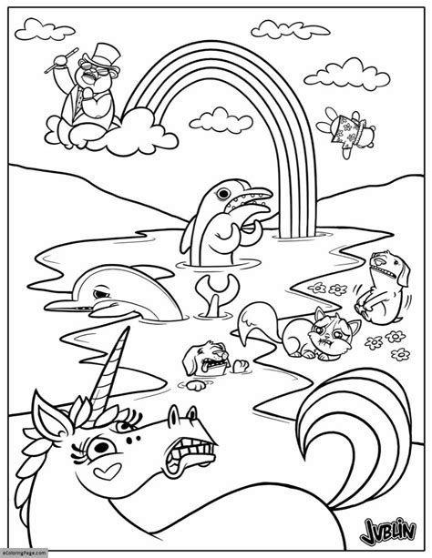printable unicorn rainbow coloring pages animals unicorn and rainbow coloring page printable