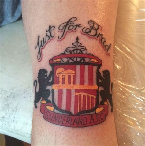tattoo newcastle newcastle united fan gets rival team sunderland tattoo to