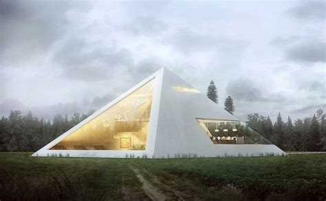 Luxury Log Cabin Plans by Juan Carlos Ramos Unveils Amazing Pyramid House Worthy Of