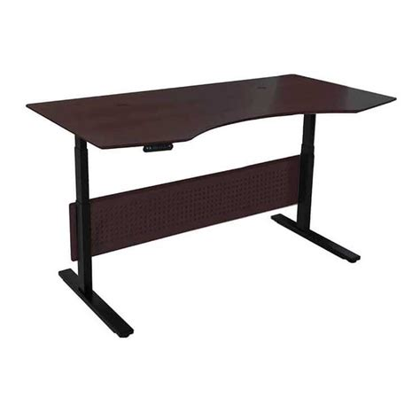 electric sit stand desk prestige 75 quot modern electric sit stand desk espresso