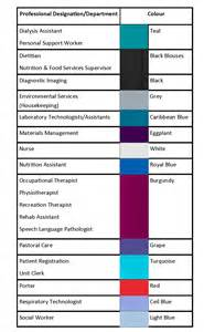 scrub color code huron perth healthcare alliance colours