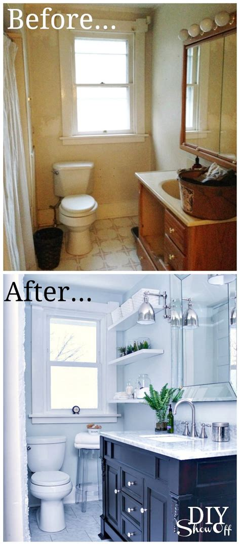 bathroom before and after photos bathroom before and after diy show off diy decorating and home improvement
