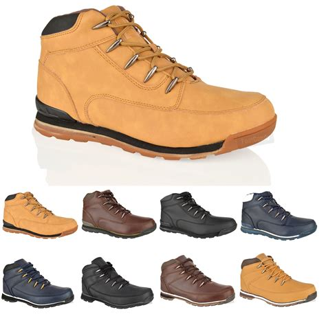 comfortable walking shoes for work mens boys casual lace up comfort hiking walking work ankle