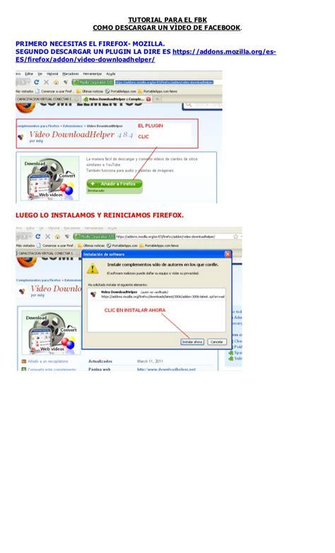 descargar tutorial de edmodo como descargar un v 237 deo de fbk con firefox