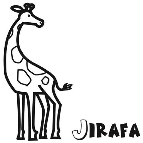 imagenes de jirafas para ninos dibujo para ni 241 os de jirafa