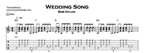Wedding Song Guitar Chords by Bob Wedding Song Jerry S Guitar Bar