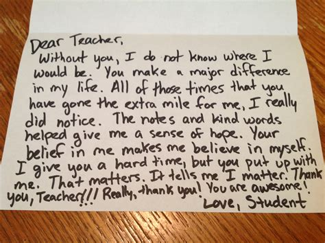 thank you letter for teachers day the thank you note you may never get dear