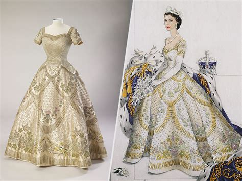 elizabeth s wedding and coronation dresses display