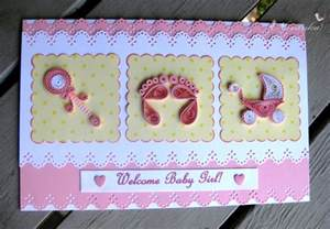 craft ideas for all handmade welcome baby greeting card with paper quilling