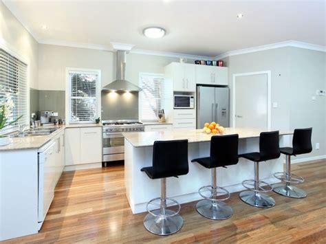 U Shaped Kitchen Designs With Island modern island kitchen design using floorboards kitchen