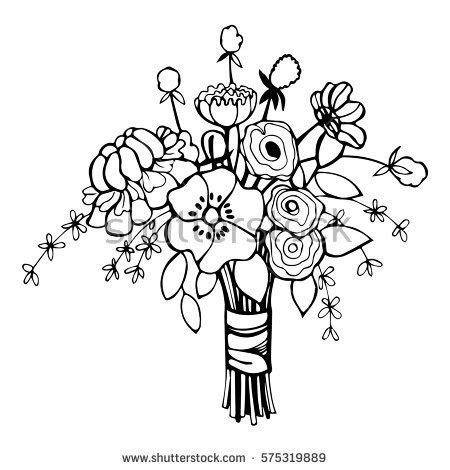 Wedding Bouquet Illustration by Flowers Bridal Bouquet Vector Stock Vector