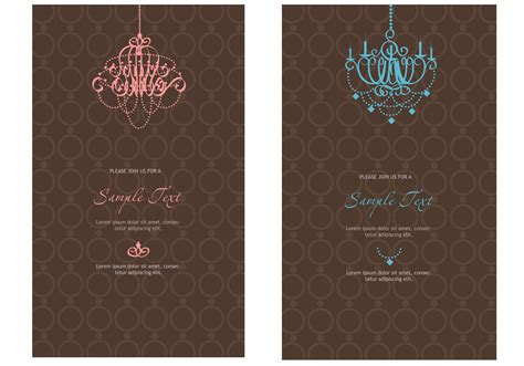 invitation template elegant invitation vector