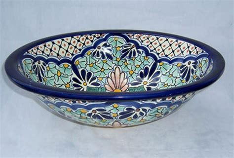 Mexican Ceramic Sink by C 15 S Mexican Talavera Sink Painted Both Sides Ebay