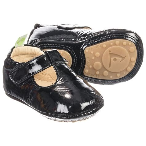 leather baby shoes tip toey joey black leather baby shoes childrensalon