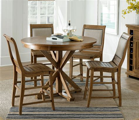 Distressed Pine Dining Table Willow Distressed Pine Counter Height Dining Table P808 15b 15t Progressive