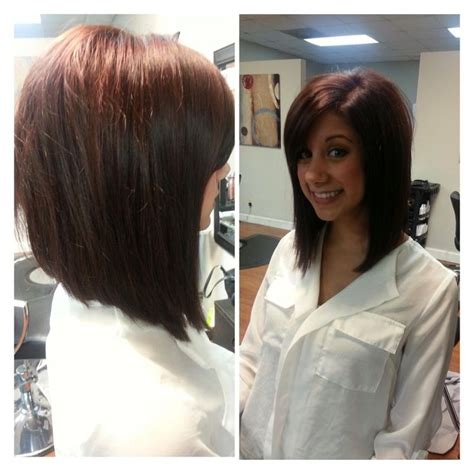 slightly longer in front hair cuts long angled bob only i would want it slightly longer in