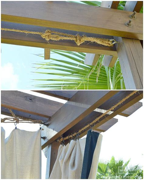no sew outdoor curtains how to make outdoor curtains without sewing curtain