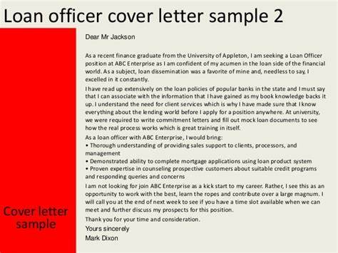 Finance Welcome Letter Loan Officer Cover Letter