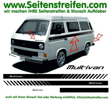 Vw T5 Multivan Aufkleber by Vw T3 Multivan Evo Custom Seitenstreifen Aufkleber