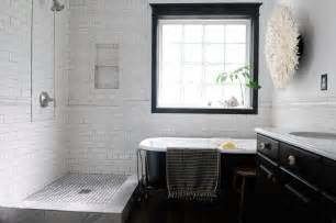 bathroom decorating ideas black and white tile 2017