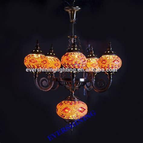 Turkish L Chandelier 2015 New Design 5 Glass Handmade Mosaic Craft Turkish Chandelier Antique Pendant Light Yma419 5