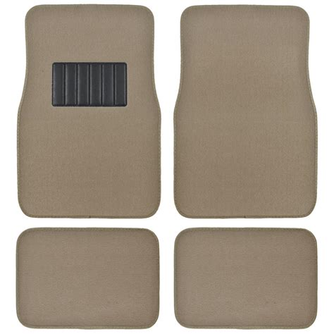 auto floor mats for car classic carpet w heelpad beige tan