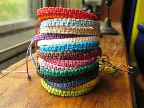 Macrame Knot Bracelet - macrame hemp bracelet woven knot friendship bracelet