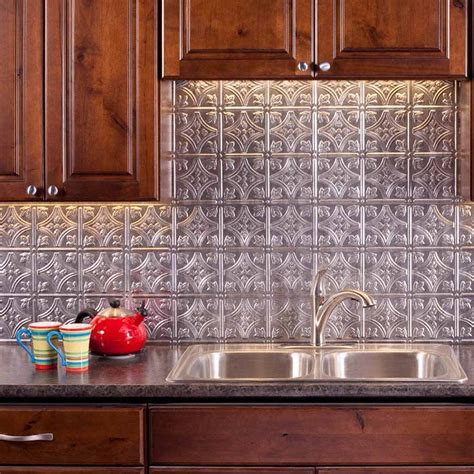 Fasade Kitchen Backsplash Fasade Backsplash Traditional 1 In Crosshatch Silver