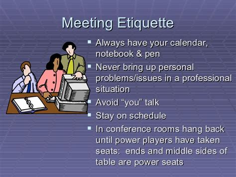 conference room etiquette business etiquette