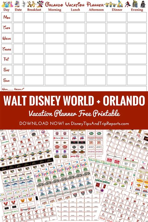 printable disney holiday planner orlando walt disney world vacation planner free printable